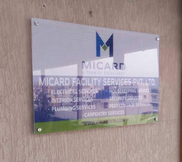 Acrylic Signboard for MICARD