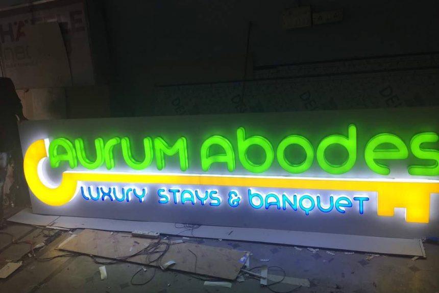 LED Signage for Aurum Abodes