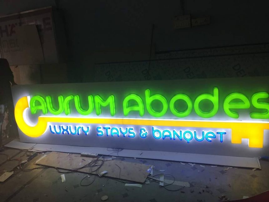 led signboard for aurum