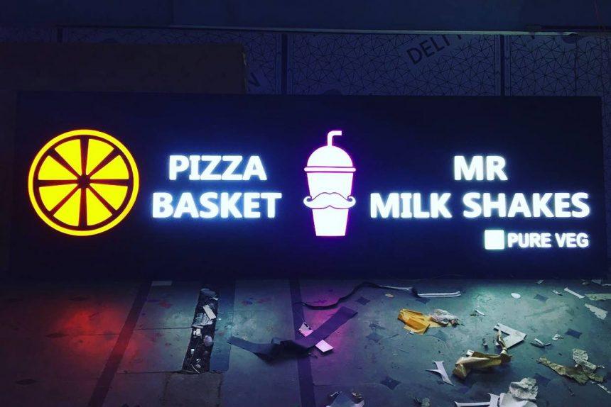 LED Signboard for Pizza basket at Manikonda