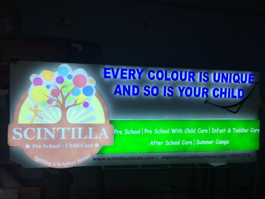 led signage for scintila play school